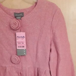 Kenar Wool coral pink sweater top Sz L NWTags